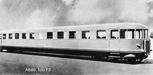 """Automotrice Leggera a benzina ALb.80 """"Littorina"""", immagine tratta da """"Il mondo dei treni"""""""