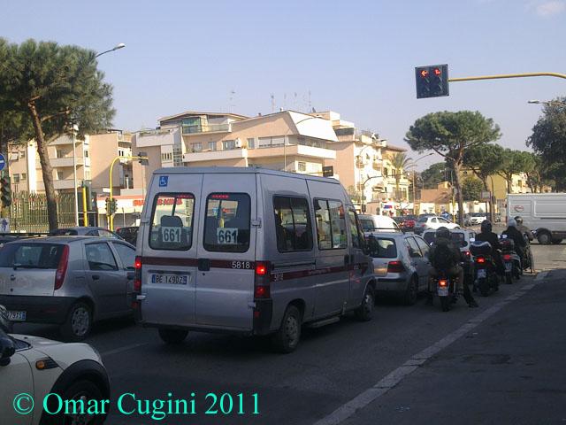 5818 (Fiat Ducato), Linea 661 in Via Tuscolana