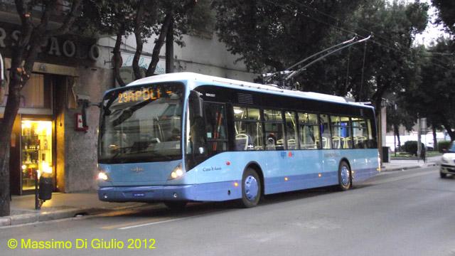 la nuova linea 29 ripresa in Via Cavallotti